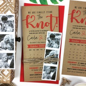 Calendar Craft Wedding Invites With Photo Booth Pictures