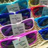 Assorted Sunglasses Wedding Favour with rustic decoration don't get blinded by our love