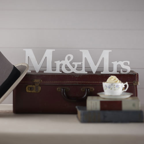 Mr and Mrs White Wooden Sign Rustic wedding sign