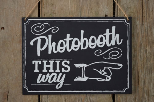 Photo Booth This Way Sign wooden sign chalkboard sign