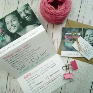 The Happiest Day Photo Triptych Wedding Invite