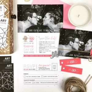 Photo Trifold Wedding Invite