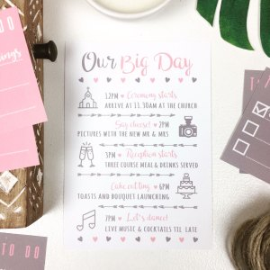 Rustic Pink and Grey Timeline