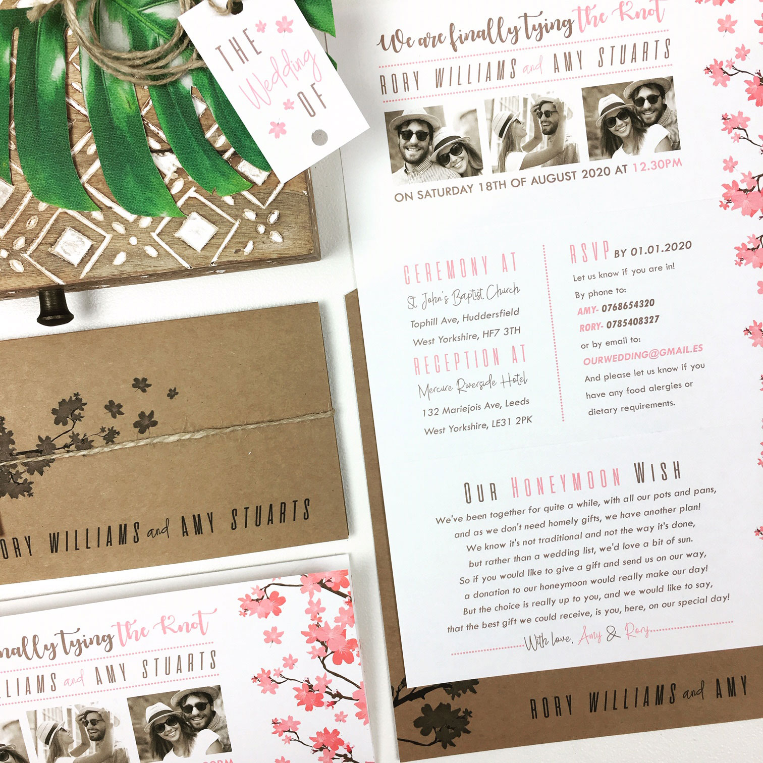 Rustic Trifold Wedding Invitation