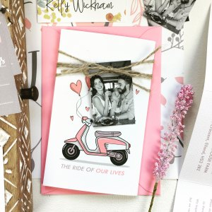 Photo Luggage Tag Wedding Invitation