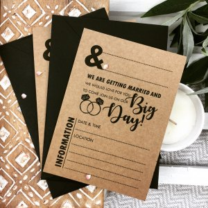 Craft Wedding Invitation DIY Blank