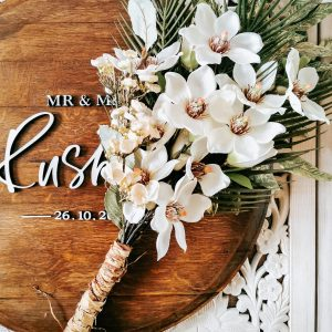 Artificial Flower Rustic Bouquet for bride with white flowers
