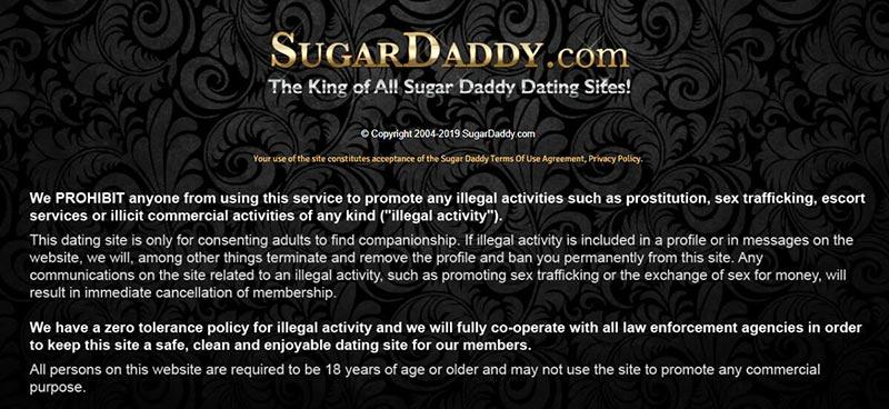 SugarDaddy.com Legal