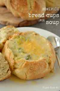 Homemade Bread Cups for Soup - Sugar Dish Me