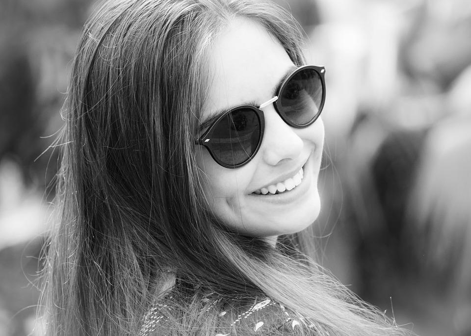 A smiling beautiful woman