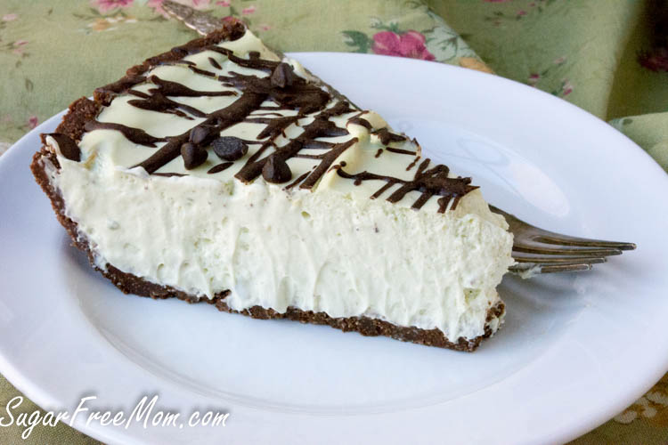 low carb grasshopper pie