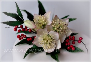 Christmas Rose Cake Detail 2