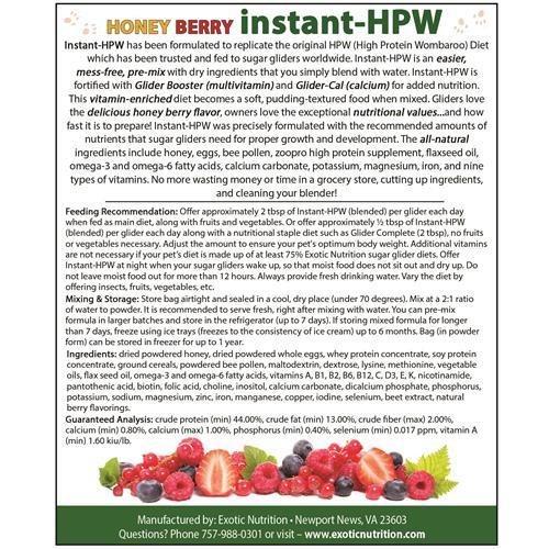 HONEY BERRY INSTANT-HPW DIETA HPW PETAURO DEL AZUCAR