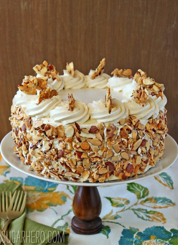 burnt almond cake recipe