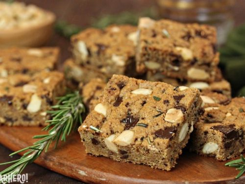 rosemary almond blondies
