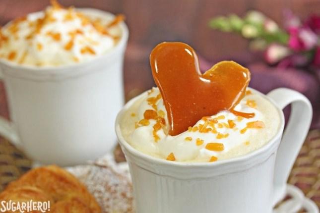 Creme Brulee White Hot Chocolate   From SugarHero.com