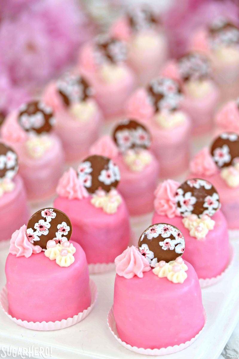 Cherry Blossom Petit Fours SugarHero