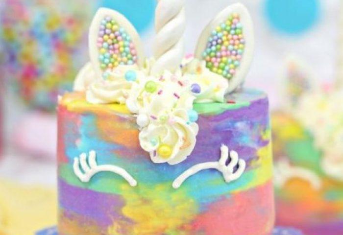 Colorful Unicorn Cakes