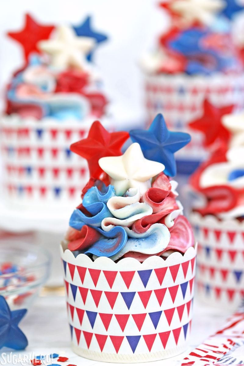 Red White and Blue Cupcakes  SugarHero