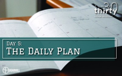 Day 5 – The Daily Plan