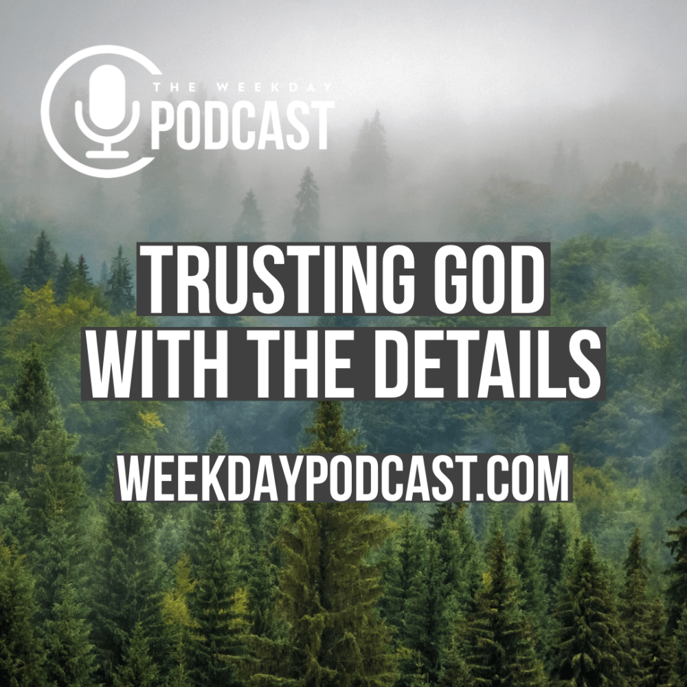 Trusting God With The Details