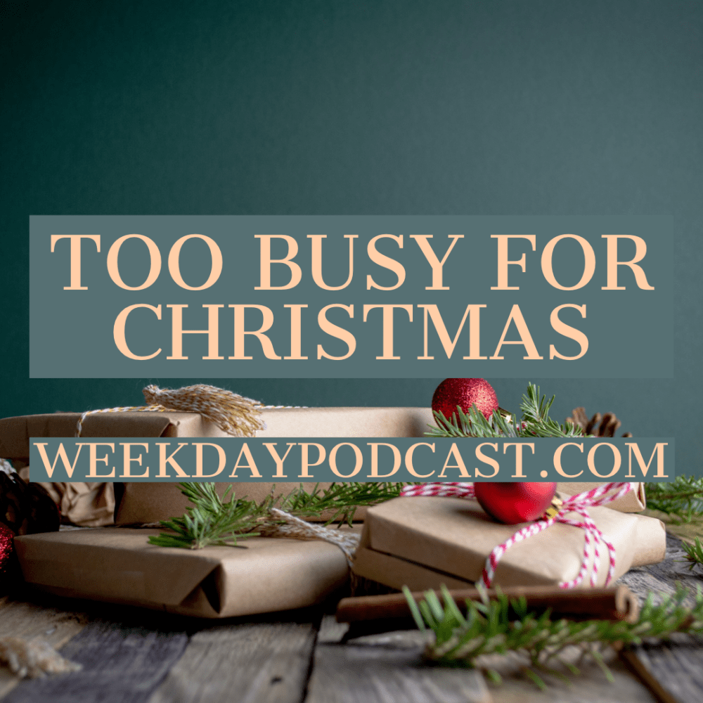 Too Busy for Christmas Image