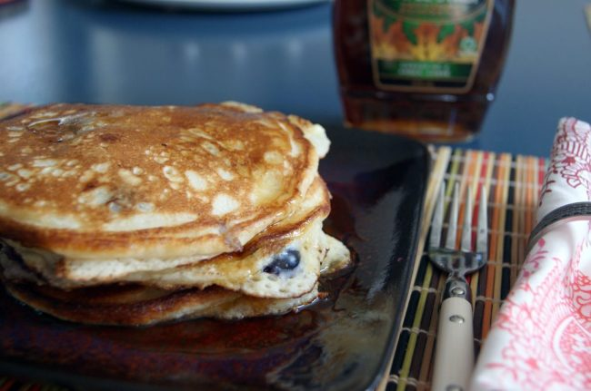 Berry Sour Cream Pancakes