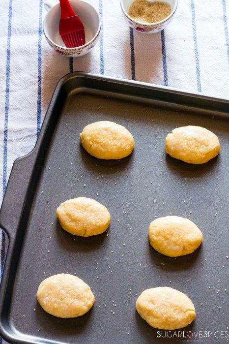 Milk Cookies (biscottoni)-cookies in the sheet