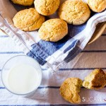 Milk Cookies (biscottoni)-feature milk and cookies in basket