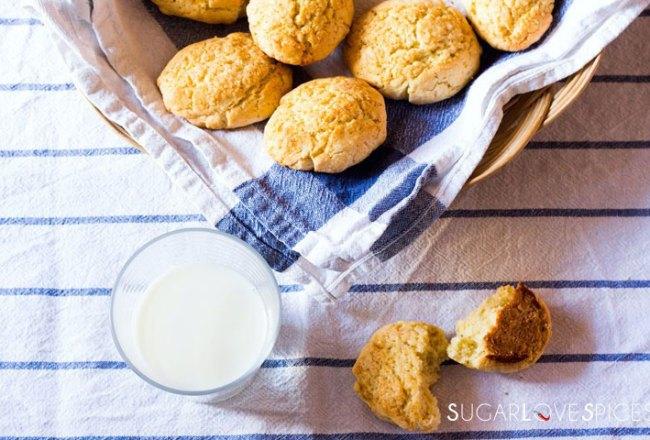 Milk Cookies (biscottoni)-feature milk and cookies in basket