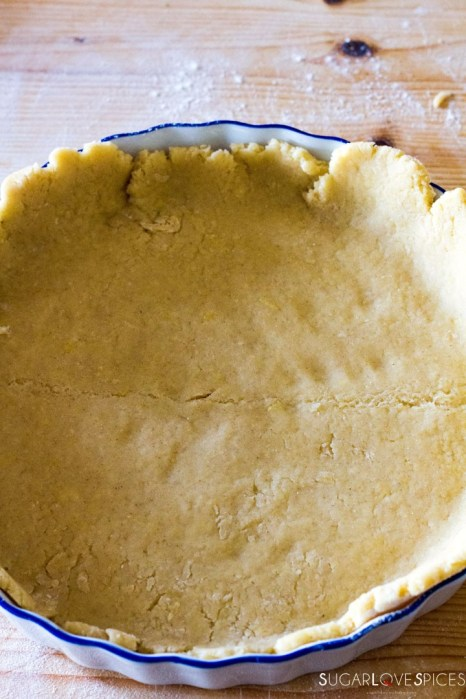 Crostata (Jam Tart)-crust in the pan