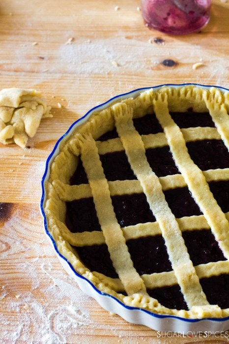 Crostata (Jam Tart)-lattice top