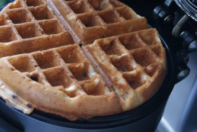 Dark Chocolate Chip Belgian Waffles