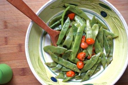 toasted garlic romano beans