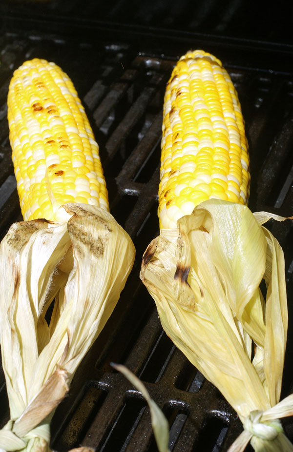 herb goat butter grilled corn