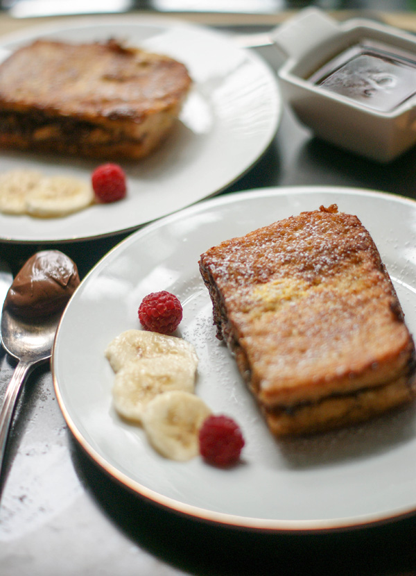 nutella banana stuffed french toast