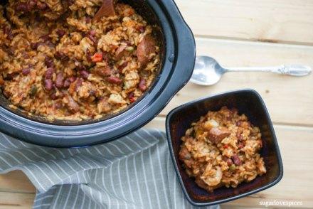 Slow Cooker Cajun Jambalaya