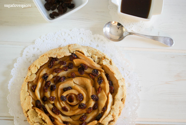 Maple Spiced Apple and Raisin Galette