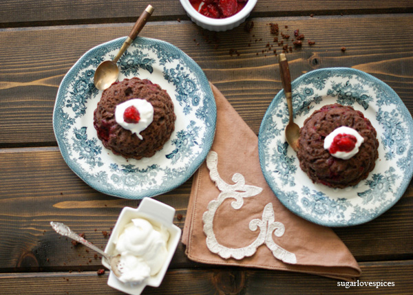 Raspberry, Cocoa, Ricotta Mini Cakes
