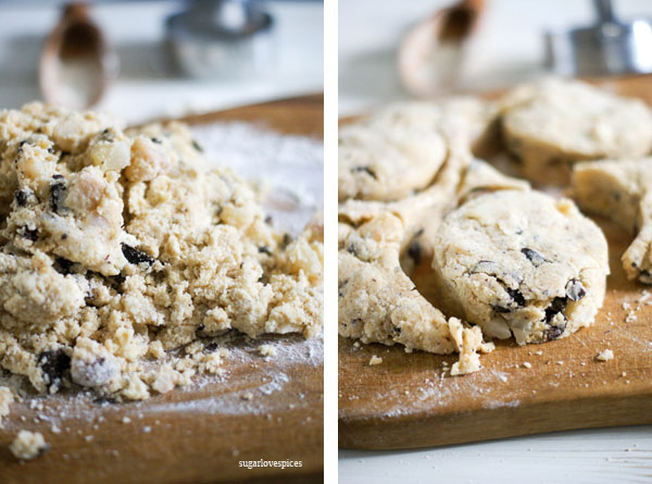 Roasted Pears and Cinnamon Chocolate Scones