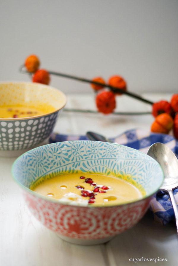 Golden Beet and Acorn Squash Soup
