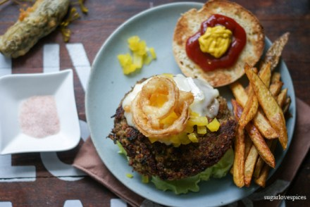Curried-lentil-cashew-burger