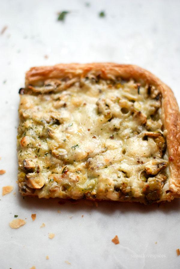 Mushroom-Leek-Gouda-Tart