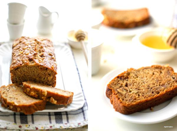 Spelt Flour Banana Bread With Walnuts And Honey