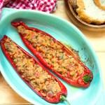 Tuna stuffed sweet peppers