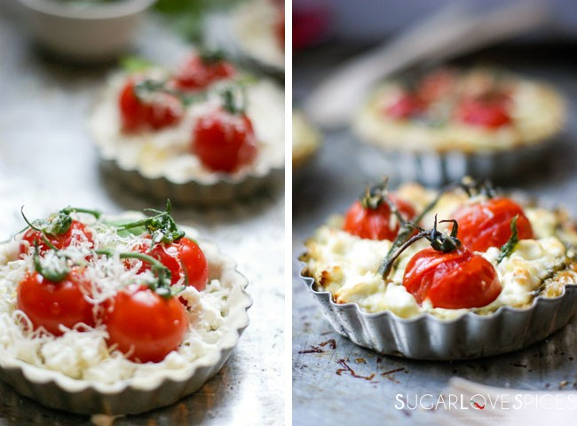 Tomato Goat Cheese Tartlets