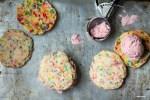 Strawberry rhubarb ice cream sandwich