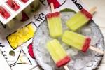 Honeydew-strawberry-popsicles