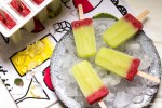 Honeydew-strawberry-popsicles