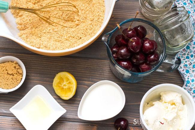 No bake Mini Cherry Cheese Cake-ingr